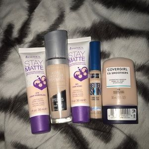 Rimmel/covergirl foundation fair skin bundle